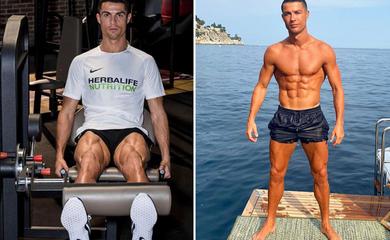Ronaldo gây choáng váng với cơ đùi to khủng khiếp