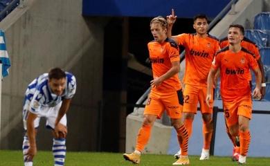 Highlight Real Sociedad vs Valencia, La Liga 2020 đêm qua