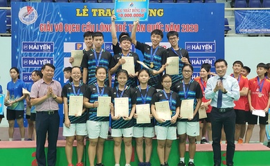 Kết thúc giải VĐ trẻ cầu lông toàn Quốc 2020: TP.HCM giành ngôi nhất toàn đoàn