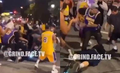 """Video: Chửi rủa Kobe giữa đoàn """"đi bão"""", kẻ quá khích nhận cái kết đắng ngắt"""