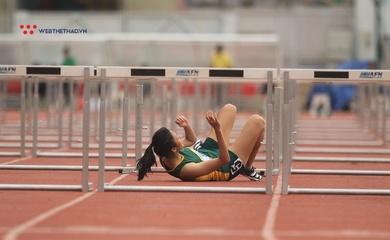 Cô gái 15 tuổi vấp rào ngã đau ở Giải điền kinh TP.HCM mở rộng 2020