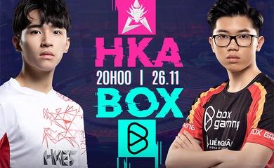 Trực tiếp HKA vs BOX, ngày 5 AIC Liên quân 2020