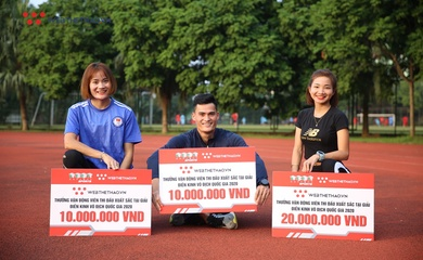 Webthethao tặng thưởng 3 ngôi sao có thành tích ấn tượng tại Giải Điền kinh VĐQG 2020