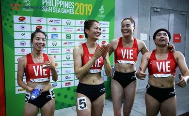 """Đội chạy 400m nữ của Việt Nam """"bá đạo"""" thế nào tại đấu trường châu lục và SEA Games?"""