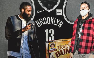 """James Harden công khai """"hối lộ"""" để xin số áo đẹp tại Brooklyn Nets"""