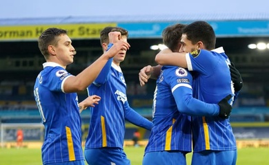 Video Highlight Leeds United vs Brighton, bóng đá Anh hôm nay 16/1