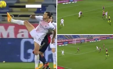 Ibrahimovic gây ấn tượng khi chuyền bóng không cần nhìn
