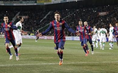 Barca thắng áp đảo đối thủ 31-0 trong 37 năm qua