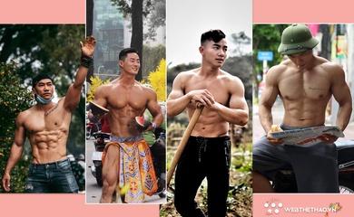 """Những chàng trai """"6 múi sầu riêng"""" làm điên đảo cộng đồng mạng Tết Tân Sửu"""