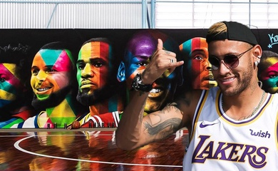 Sao bóng đá Neymar khoe sân bóng rổ cực xịn, tri ân nhiều ngôi sao và huyền thoại NBA