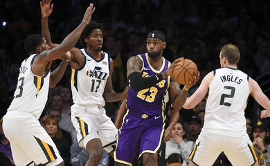 Nhận định NBA: Los Angeles Lakers vs Utah Jazz (Ngày 25/2 10h00)