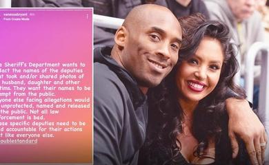 Vợ Kobe yêu cầu công khai danh tính kẻ nhẫn tâm chụp ảnh thi thể chồng