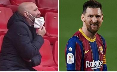 Messi cãi nhau với Giám đốc thể thao Sevilla trong đường hầm