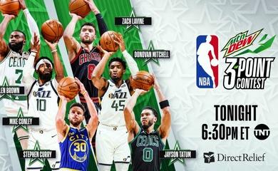 TRỰC TIẾP bóng rổ NBA All-Star 2021: Curry, Mitchell thi ném 3 điểm