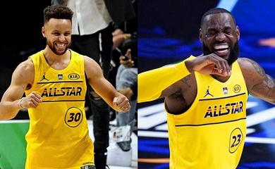 """Hậu All-Star Game 2021, LeBron James """"yêu thích"""" cảm giác làm đồng đội của Stephen Curry"""