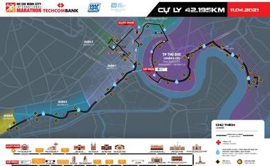 Những tuyến đường bị cấm để phục vụ Giải Marathon Quốc tế TPHCM Techcombank
