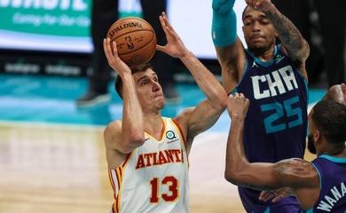 Bogdanovic ném 3 điểm khét lẹt, Hawks lội ngược dòng trước Hornets