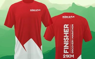 Minh Đạm Discovery Marathon 2021 gây sốt với áo hoàn thành cho cự ly 21km