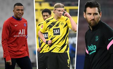 Messi, Mbappe và Haaland ở đâu nếu PSG vô địch Champions League?