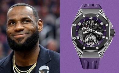 Dưỡng thương ngoài sân, LeBron James được phát hiện đeo đồng hồ tiền tỷ siêu hiếm