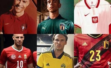 Áo đấu các đội tuyển tham dự EURO 2020 năm 2021