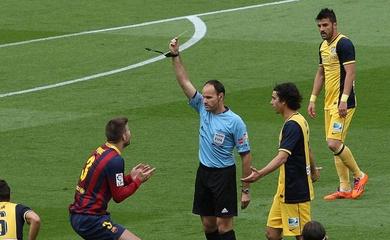 Trọng tài đã định đoạt chức vô địch giữa Barca và Atletico năm 2014 thế nào?