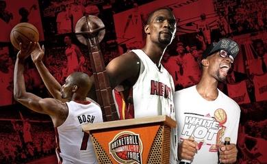Chris Bosh trở thành huyền thoại đầu tiên của Big 3 Miami Heat lọt vào Hall of Fame