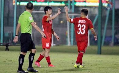 Kết quả đội tuyển Việt Nam vs U22 Việt Nam: Đoàn Văn Hậu trở lại, Công Phượng ghi bàn
