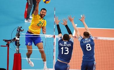 """Kết quả bóng chuyền Olympic ngày 26/6: Đương kim HCV Brazil """"chết hụt"""""""
