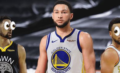 76ers muốn trade một mình Ben Simmons lấy 6 cầu thủ Golden State Warriors