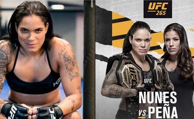 Amanda Nunes dương tính COVID-19, trận bảo vệ đai trước Julianna Pena tạm hủy