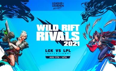 LPL và LCK đối đầu ở bộ môn Tốc Chiến tại Wild Rift Rivals