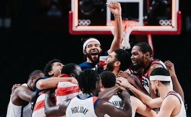 Nụ cười Mỹ và nước mắt Pháp sau Chung kết bóng rổ nam Olympic 2021