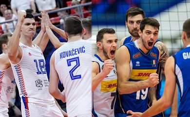 Ý đối đầu Serbia tại bán kết bóng chuyền nam Vô địch châu Âu: Chung kết sớm là đây!