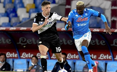 Đội hình ra sân Udinese vs Napoli hôm nay dự kiến