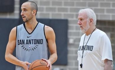 Huyền thoại Manu Ginobili trở về mái nhà xưa San Antonio Spurs