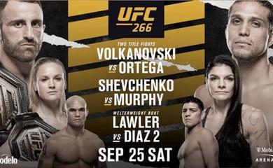 Trực tiếp UFC 266: Alexander Volkanovski vs Brian Ortega