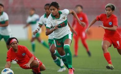 Kết quả nữ Indonesia vs Singapore, vòng loại Asian Cup 2022
