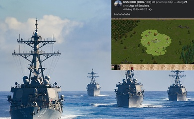 Facebook tàu khu trục Hải quân Mỹ bị hack, liên tục phát game AOE