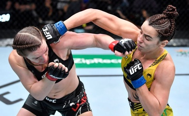 """UFC Fight Night 195: Norma Dumont đánh bại Aspen Ladd, Jim Miller """"già vẫn chạy tốt"""""""