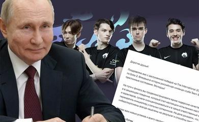 Tổng thống Putin chúc mừng Team Spirit vô địch TI10