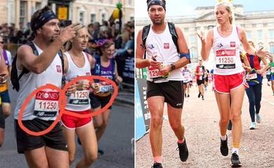 Cặp vợ chồng bị bắt quả tang chạy cùng số bib tại giải marathon