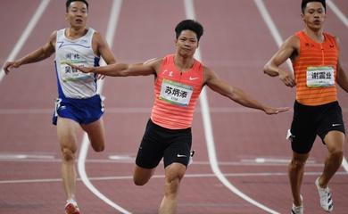Người chạy nhanh nhất châu Á phá kỷ lục 100m đại hội thể thao Trung Quốc