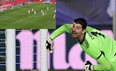 Courtois 2 lần cứu thua cho Real trước Liverpool trong 10 phút