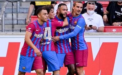 Barca tận hưởng bộ đôi Depay và Griezmann khi chưa có Messi