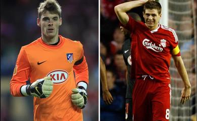Đội hình Liverpool và Atletico năm 2010 bao gồm cả... De Gea