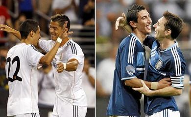 """Di Maria trả lời các câu hỏi """"khó chịu"""" nhất về Messi và Ronaldo"""