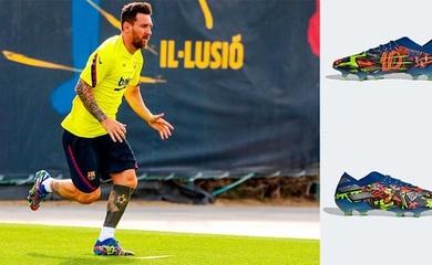 """Messi ra mắt giày """"độc"""" phiên bản Barca do Adidas thiết kế"""