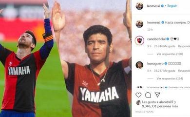 Hình ảnh Messi tôn vinh Maradona lập kỷ lục trên mạng xã hội