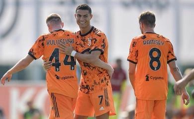 Xem Ronaldo phối hợp với tân binh Juventus ghi bàn trước Novara